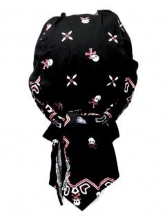 Bandana Cap Totenkopf mit Muster