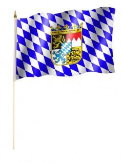 Stockfahne Bayern Wappen