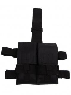 Magazintasche mit Beinhalterung schwarz