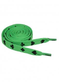 Schnürsenkel Kartenspiel neon grün schmal