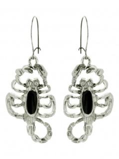 Ohrring Skorpion mit Stein schwarz