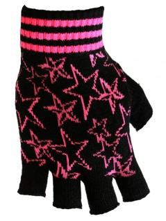 Fingerlose Handschuhe Stars pink