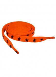 Schnürsenkel Sterne orange schmal
