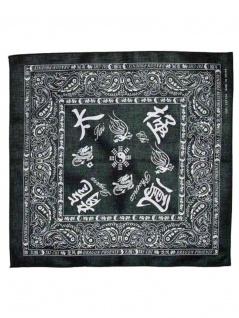 Bandana China Zeichen schwarz