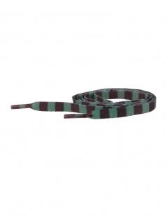 Schnürsenkel schwarz hellgrün gestreift schmal