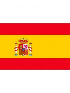 Fahne Spanien mit Wappen