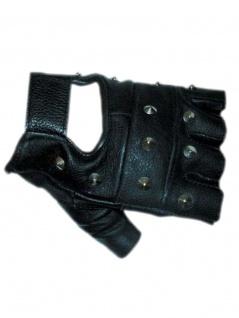 Fingerlose Lederhandschuhe mit Nieten