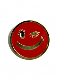 Anstecker Pin Roter Smiley