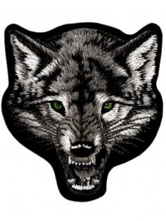 Aufnäher Wolf grau
