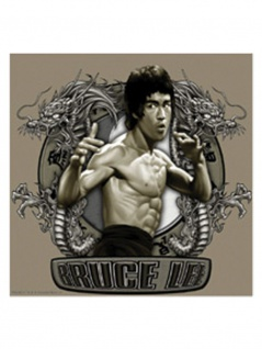 3 Aufkleber Bruce Lee