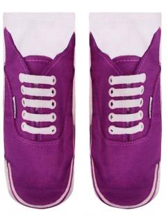 Sneaker Schuh Socken bedruckt Schuh Sneaker lila fccb8d