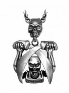 Halskette Totenkopf Pirat mit Säbel