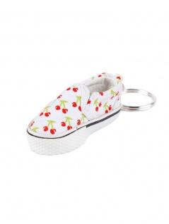 Schlüsselanhänger Schuh weiß mit Kirschen - Kaufen bei Armardi GmbH & Co. KG