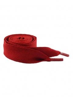 Schnürsenkel rot breit