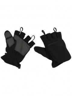 Fleece Faust Finger Handschuhe schwarz - Vorschau 2