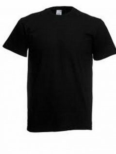 Fruit of the Loom T-Shirt Schwarz S - XXL