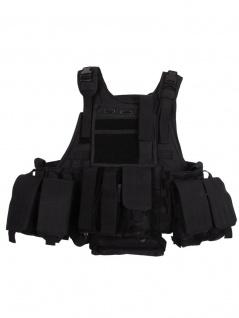 Tactical Weste schwarz mit Modular System