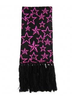 Winterschal Sterne pink