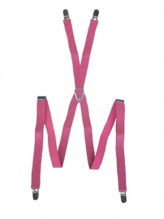 Hosenträger mit Glitzereffekt rosa