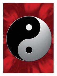 3 Yin und Yang Postkarten