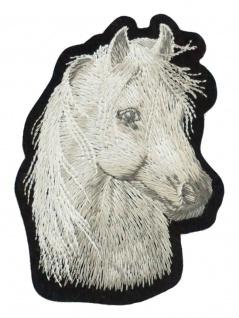 Aufbügler weißes Pferd