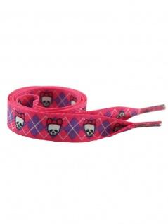 Schnürsenkel Skull Girl pink breit