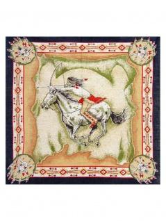 Bandana Indianer auf Pferd dunkelblau