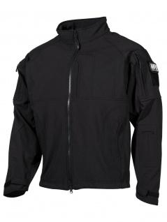 Allwetterschutz Soft Shell Jacke schwarz
