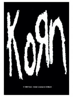 Korn Poster Fahne