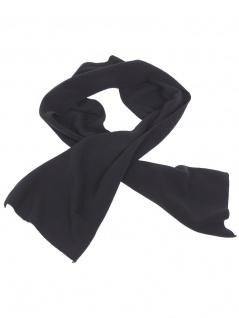 Fleece Schal schwarz