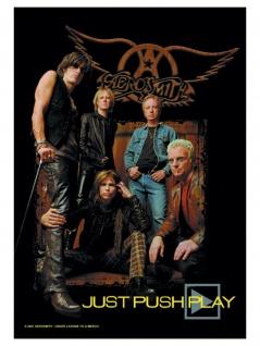 Aerosmith Poster Fahne Just push Play