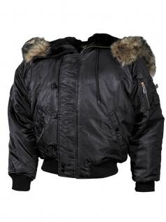 Polar Winterjacke schwarz dick gef?ttert