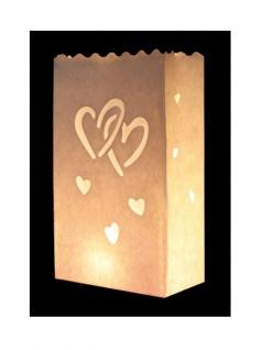 Kerzen Lichttüte verliebte Herzen
