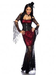 Vampirkostüm schwarz rot