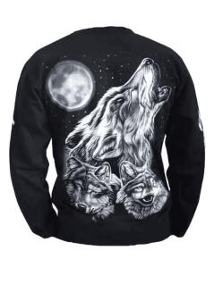 Sweatshirt heulender Wolf Mond - Vorschau 2