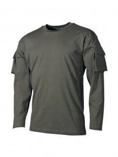 US Army Longsleeve Shirt oliv mit Ärmeltaschen