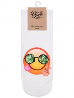 Sneaker Socken bedruckt Emoji Reggae - Vorschau 1