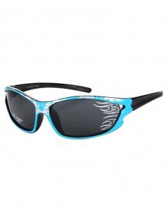 Kinder Sonnenbrille Flammen blau