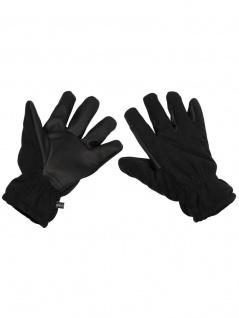 Fleece Handschuhe schwarz winddicht