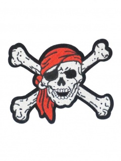 Aufbügler Totenkopf Pirat