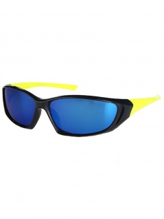 Kinder Sonnenbrille schwarz gelb verspiegelt
