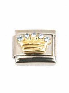 Motiv Krone mit blauen Steinen