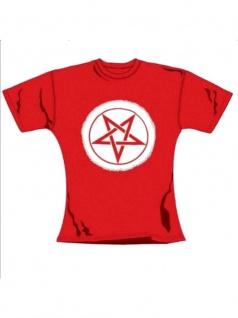 T-Shirt Pentragramm in rot