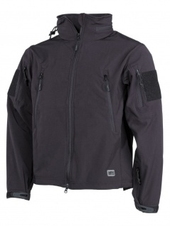 Allwetter Premium Soft Shell Jacke schwarz
