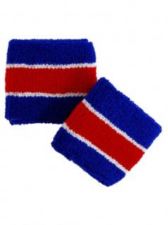 Schweißbänder blau weiß rot