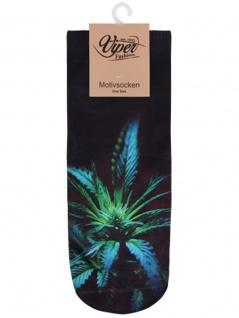 Sneaker Socken bedruckt Blume
