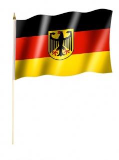 Stockfahne Deutschland Adler