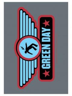 Green Day Poster Fahne Logo