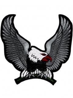 Aufnäher Adler grau sitzend