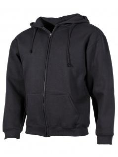 Kapuzenjacke Sweatshirt Longsleeve schwarz
